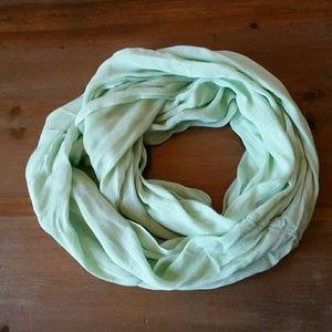 Mint green infinity scarf
